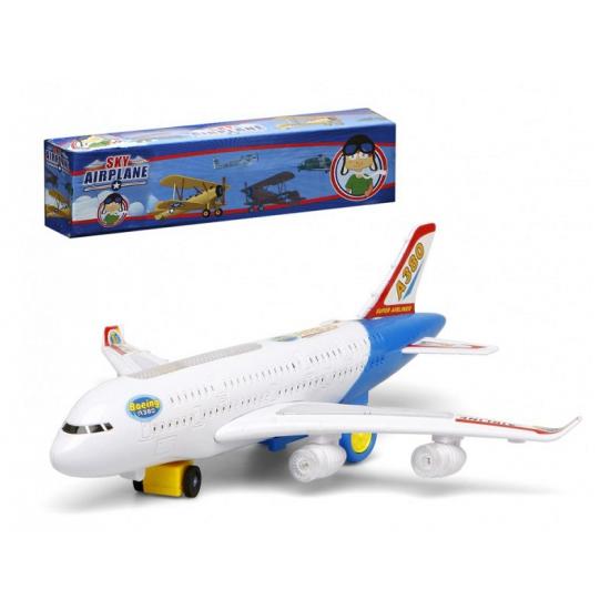 Wit Speelgoed Vliegtuig Met Licht En Geluid Geboorte feestwinkel kopen