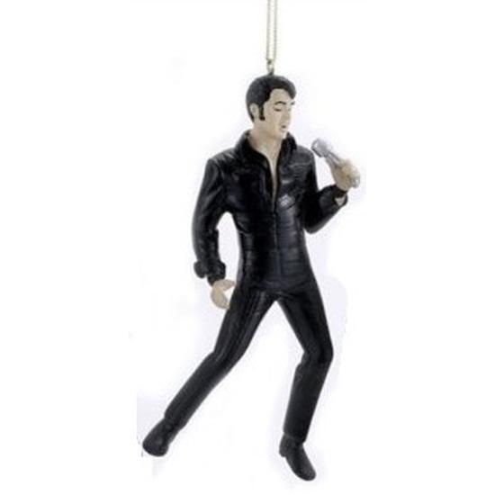 1x Deco hanger figuurtjes Elvis Presley met microfoon 12 cm