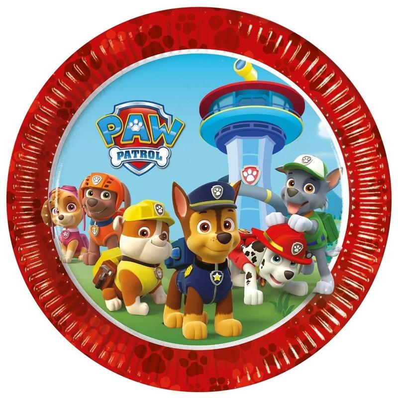 8x Paw Patrol feest bordjes
