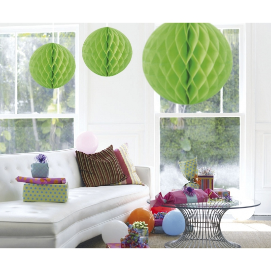 Decoratie bol lime groen 50 cm