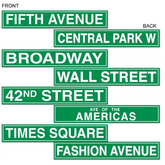 Decoratie bord New York straten