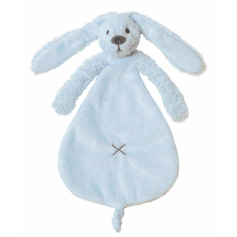 Geboorte-Feestwinkel, Knuffel tuttel konijn blauw 25 cm