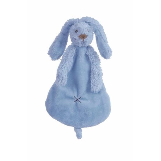 Geboorte-Feestwinkel, Knuffel tuttel konijn denimblauw 25 cm