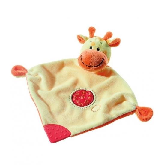 Geboorte-Feestwinkel, Knuffeldoekje giraffe 28 cm