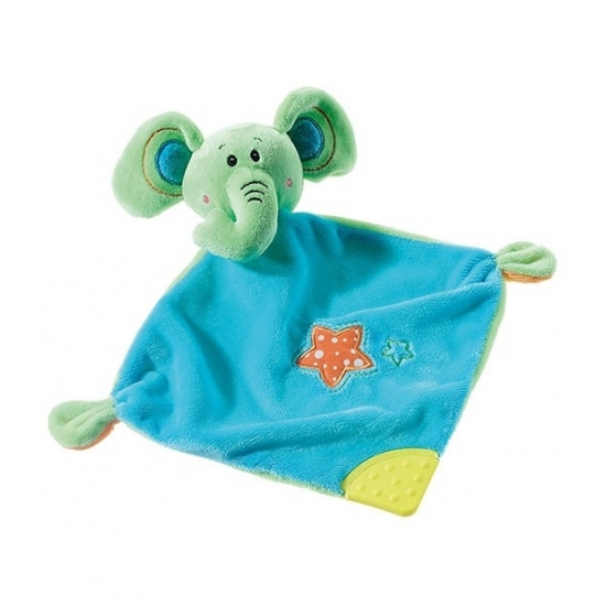 Geboorte-Feestwinkel, Knuffeldoekje olifant 28 cm