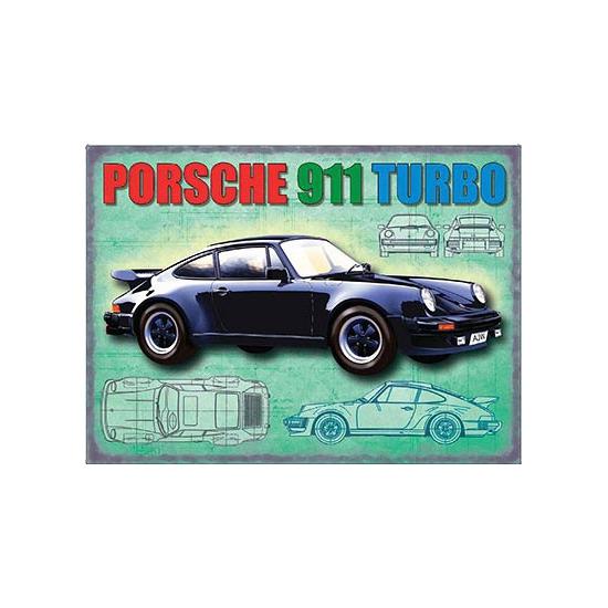 Geboorte-Feestwinkel, Metalen funplaten Porsche 911 Turbo