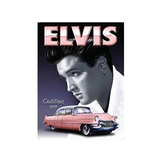 Geboorte-Feestwinkel, Metalen plaat met Elvis Presley en zijn Cadillac