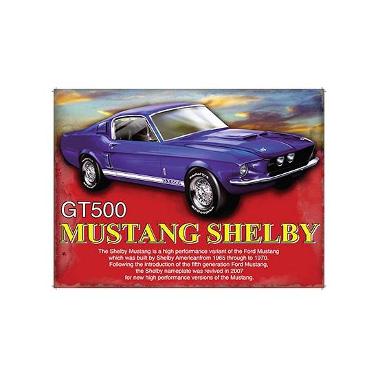 Geboorte-Feestwinkel, Metalen plaat Mustang Shelby