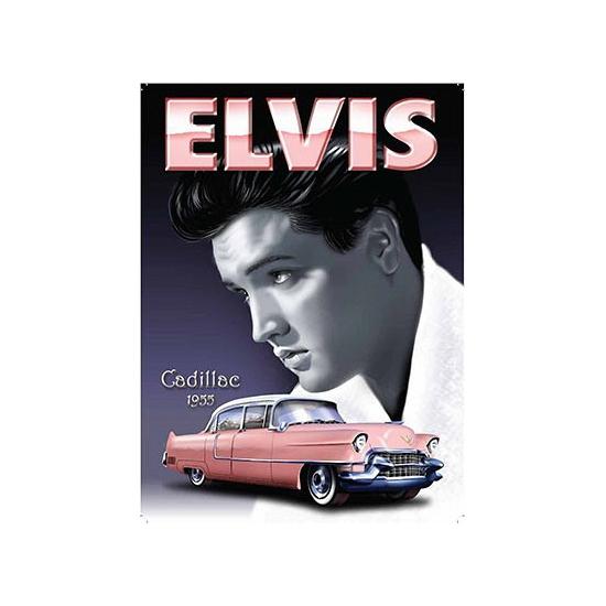 Geboorte-Feestwinkel, Metalen platen Elvis Cadillac 1955