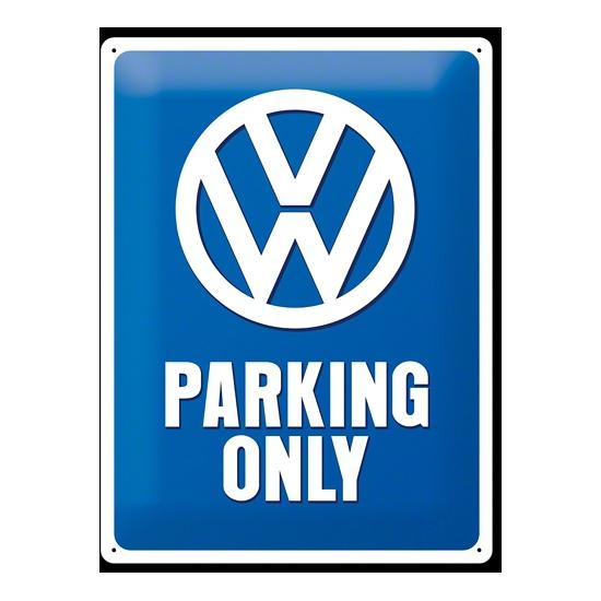 Geboorte-Feestwinkel, Muurplaat Volkswagen parking 30 x 40 cm