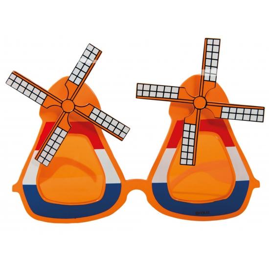 Oranje molen bril met wieken