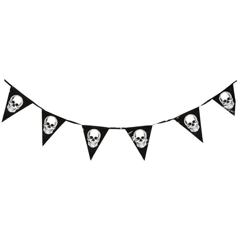 Piraten thema vlaggenlijn-slinger 360 cm piraten decoratie