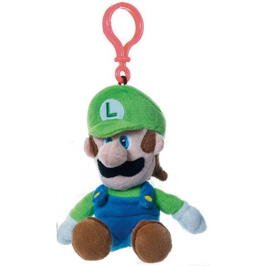 Pluche tasclip Super Mario groene Luigi