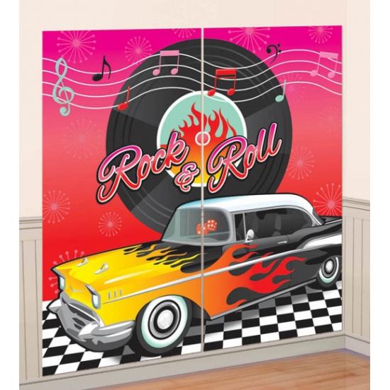 50x rock and roll scene setter 165 cm - Geboorte versiering en ...
