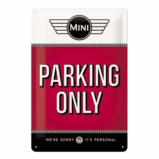 Geboorte-Feestwinkel, Rood muurplaatje Mini parking only