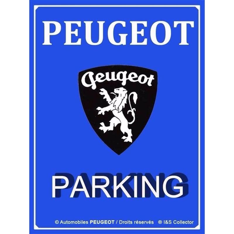 Geboorte-Feestwinkel, Tinnen wandplaat Peugeot