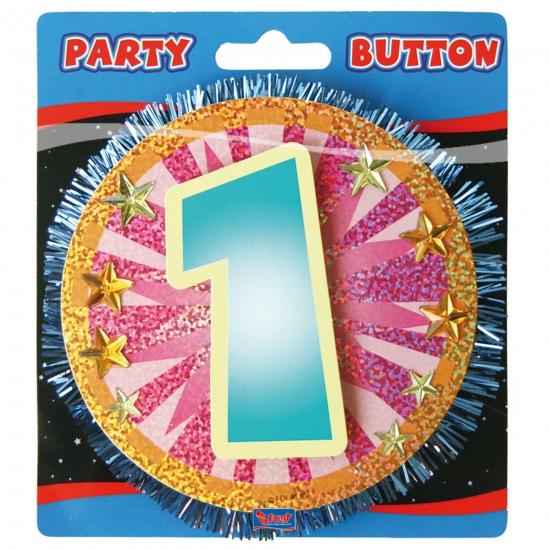 1 Jaar gekleurde 3D button