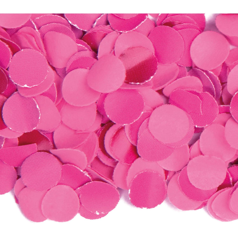 100 gram party confetti kleur fuchsia roze