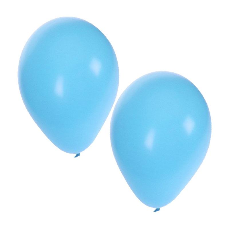 100 lichtblauwe decoratie ballonnem