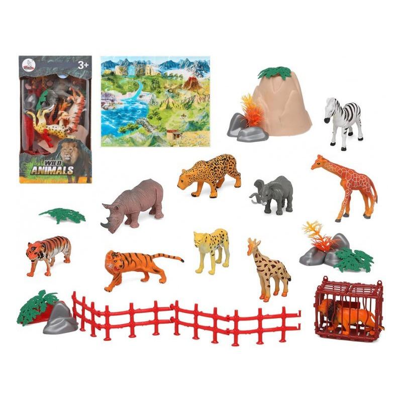 10x Plastic safari/wilde dieren speelgoed figuren voor kinderen