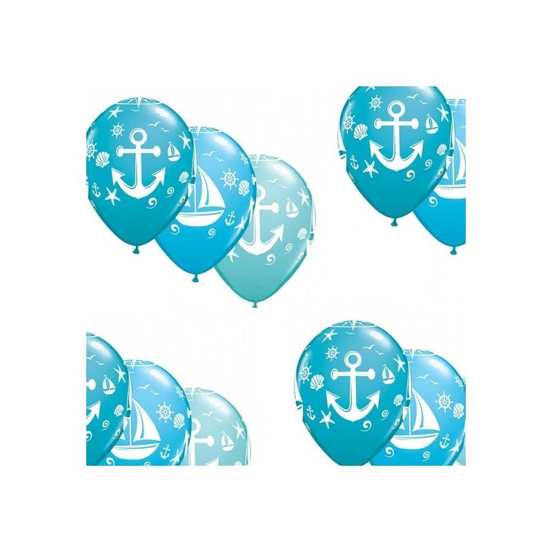 10x stuks Marine/maritiem thema party ballonnen