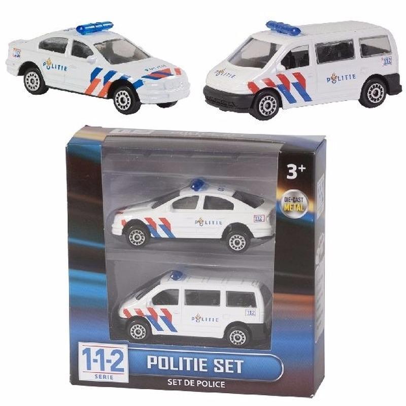 112 Politie auto setje van 2 stuks - autos 7 cm