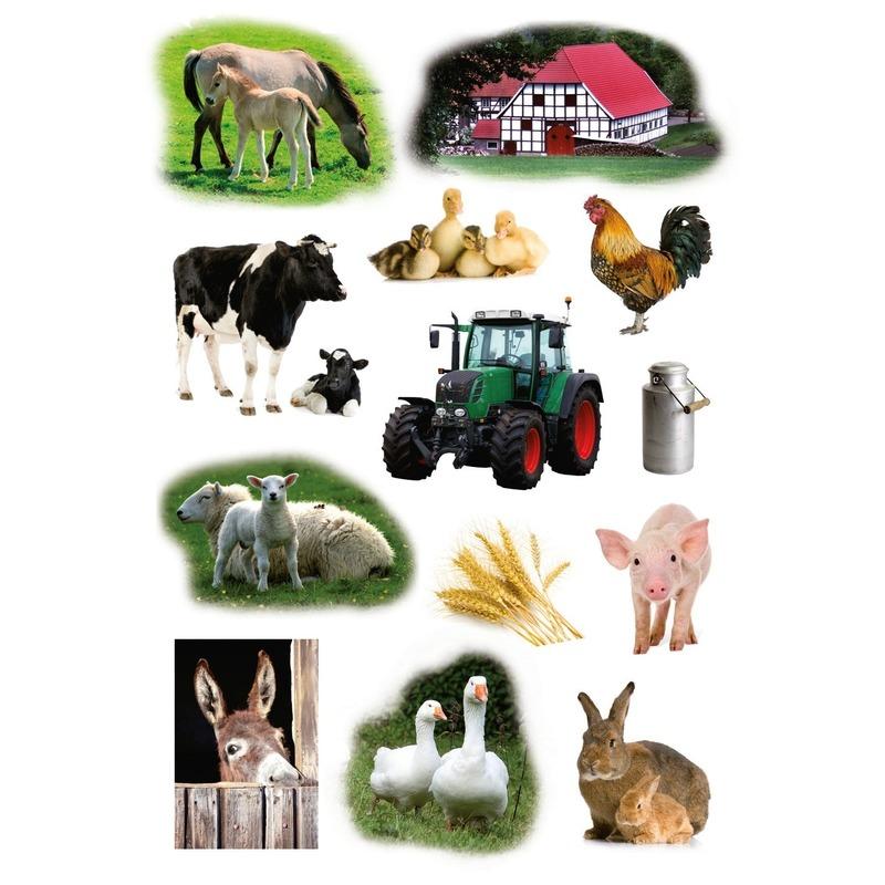 117x Boerderij dieren stickers