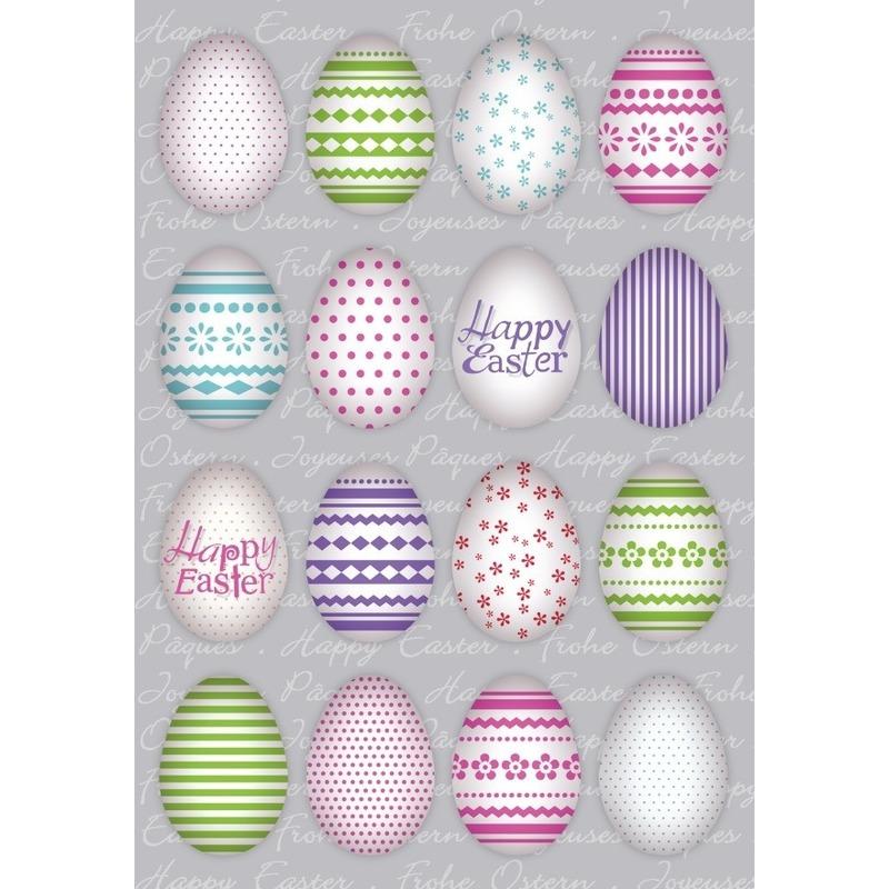144x Gekleurde paaseieren Vrolijk Pasen stickers