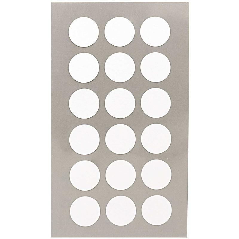 144x Witte ronde sticker etiketten 15 mm