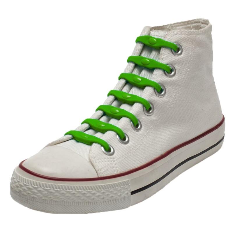 14x Shoeps elastische veters groen voor kinderen/volwassenen