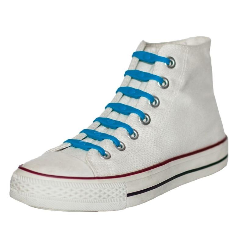 14x Shoeps elastische veters kobaltblauw voor kinderen/volwassen