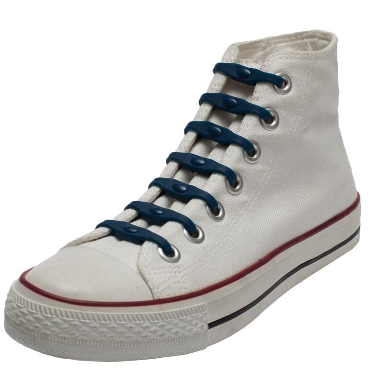14x Shoeps elastische veters navy voor kinderen/volwassenen