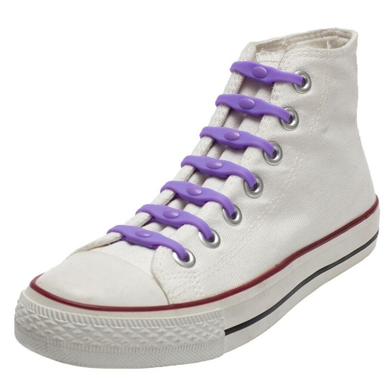 14x Shoeps elastische veters paars voor kinderen/volwassenen