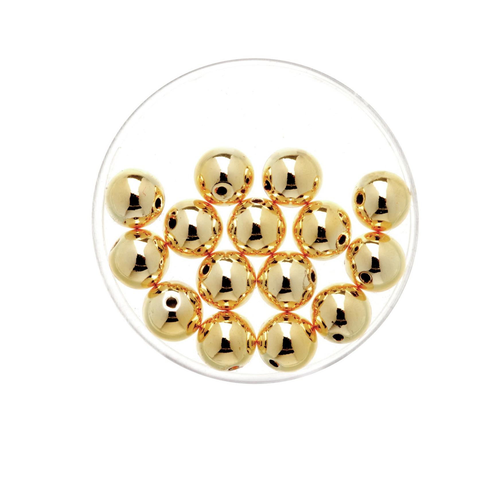 15x stuks metallic sieraden maken kralen in het goud van 8 mm