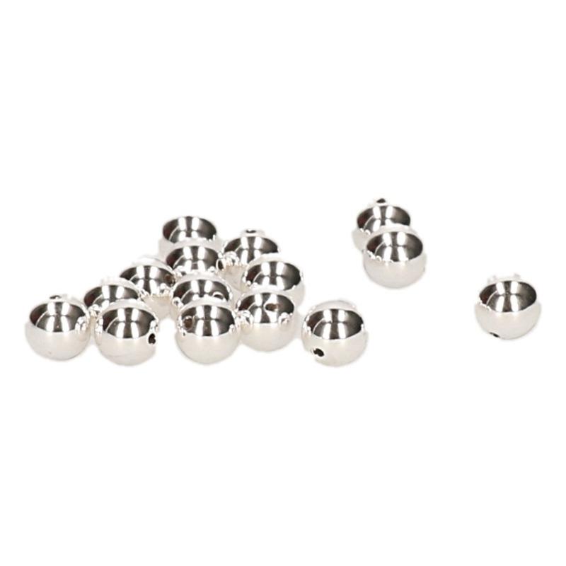 15x zilveren ronde kralen van 8 mm