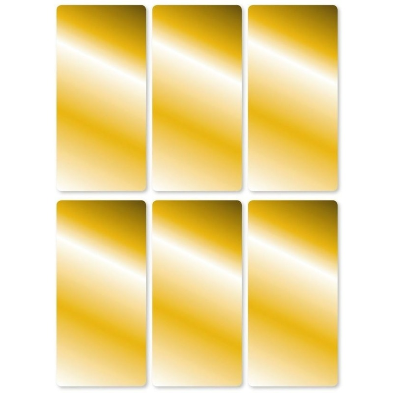 18x Gouden etiketten