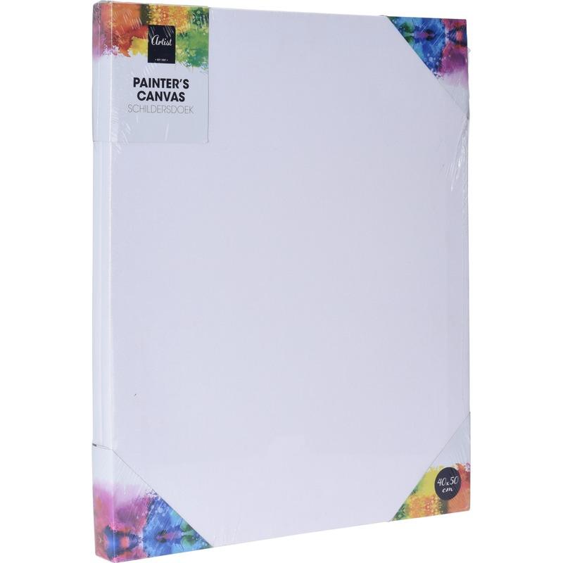 1x Canvas/schildersdoek 40 x 50 cm