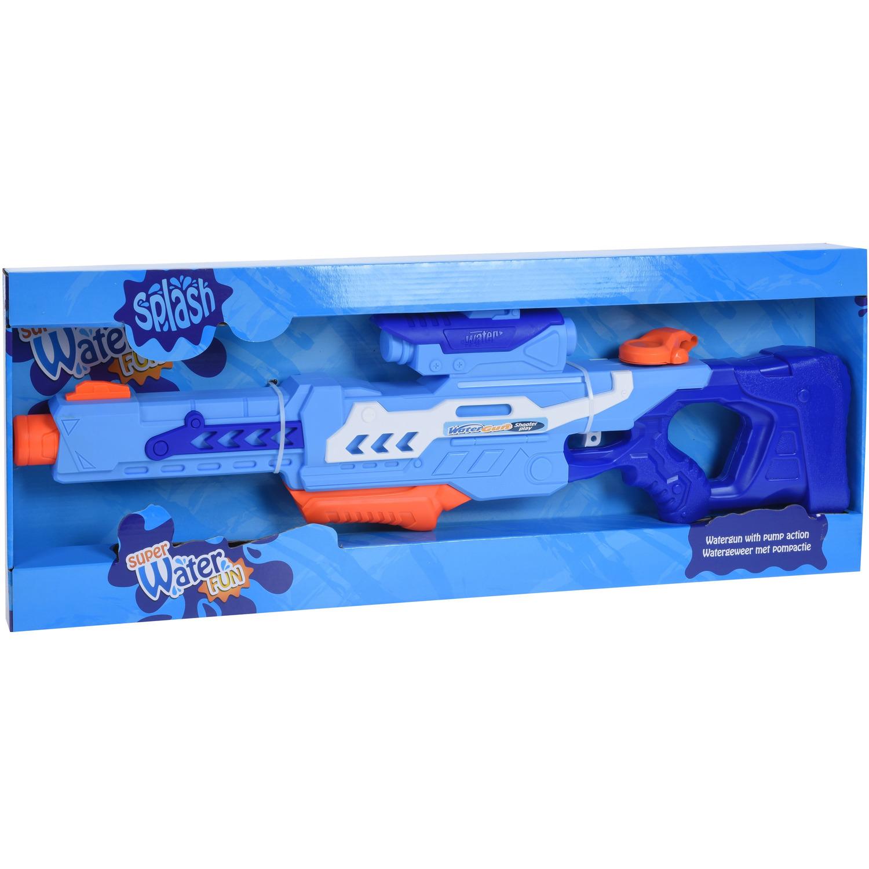 1x Grote waterpistolen/waterpistool blauw van 77 cm kinderspeelgoed