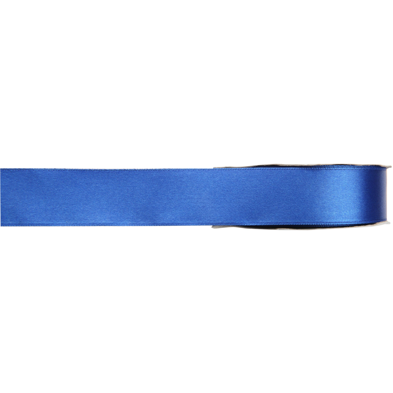 1x Hobby/decoratie blauwe satijnen sierlinten 1 cm/10 mm x 25 meter