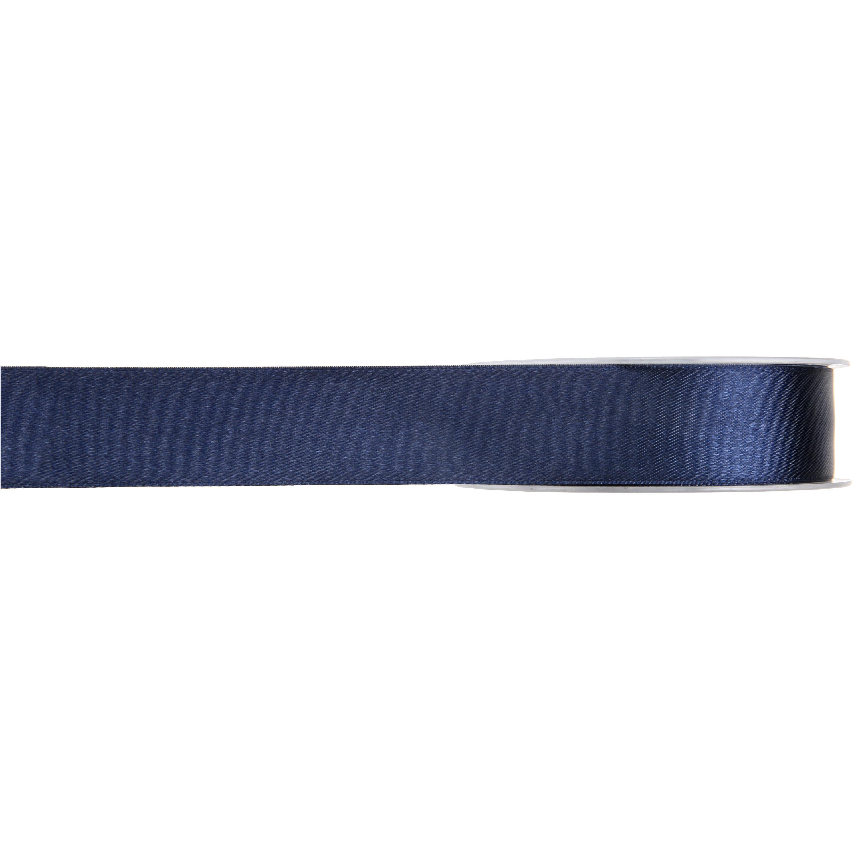 1x Hobby/decoratie navyblauwe satijnen sierlinten 1 cm/10 mm x 25 meter
