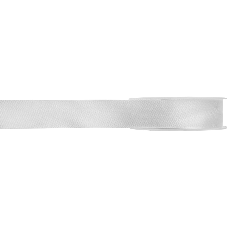 1x Hobby/decoratie witte satijnen sierlinten 1 cm/10 mm x 25 meter