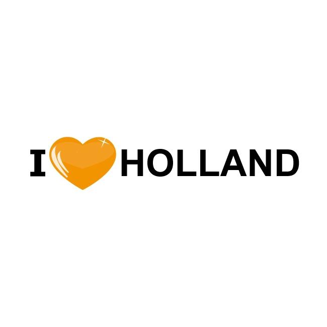 1x I Love Holland oranje sticker 19,6 x 4,2 cm