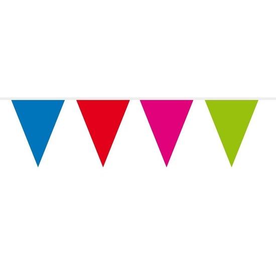 1x Mini vlaggenlijn - slinger multi colour 300 cm