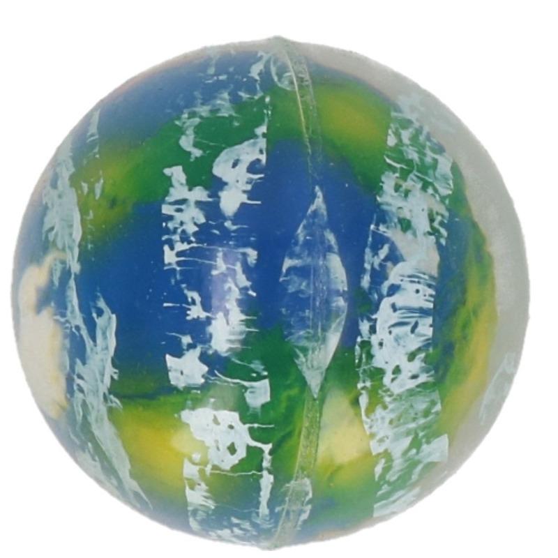 1x Speelgoed wereldbol stuiterballen 5 cm