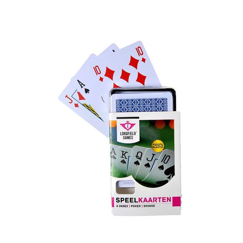 1x Speelkaarten plastic poker/bridge/kaartspel in box