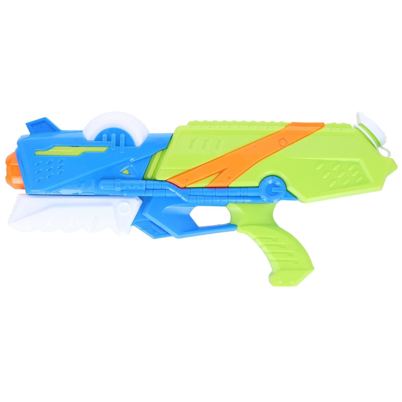 1x Waterpistolen/waterpistool blauw/groen van 41 cm kinderspeelgoed
