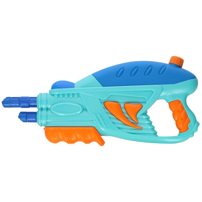 1x Waterpistolen/waterpistool blauw van 42 cm 350 ml kinderspeelgoed