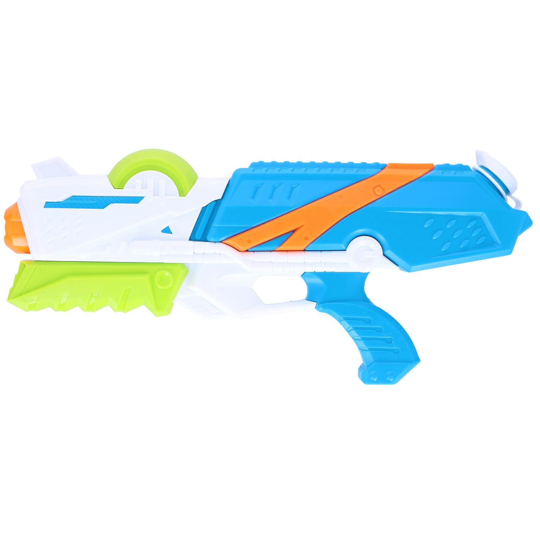 1x Waterpistolen/waterpistool wit/blauw van 41 cm kinderspeelgoed