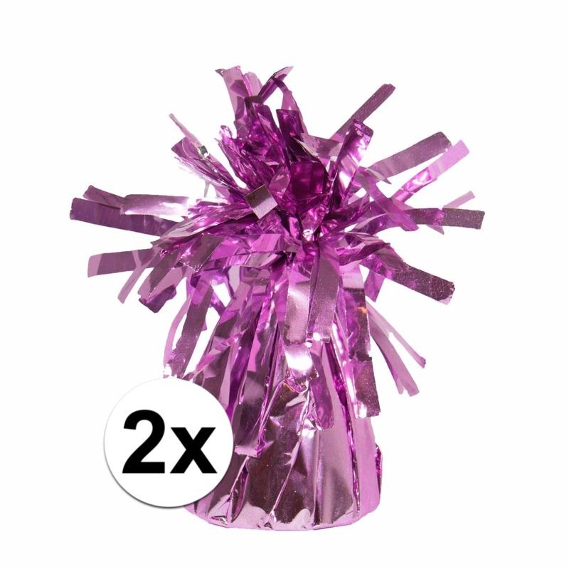2 Ballongewichten roze 170 gr