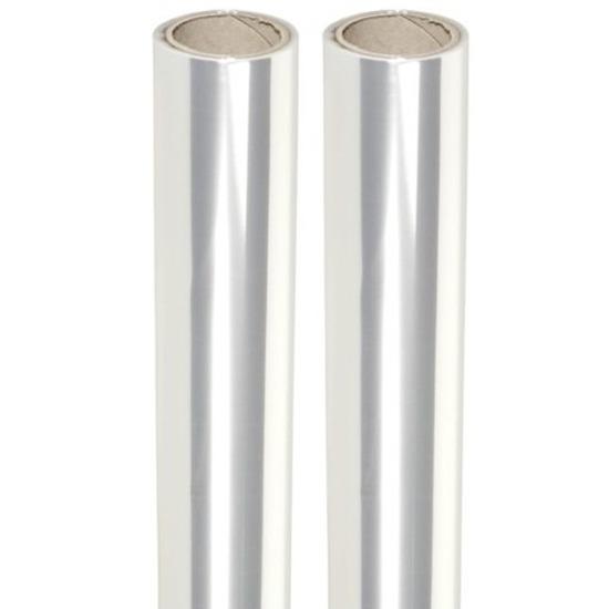 2 rollen Transparante folie van 70 x 500 cm per rol